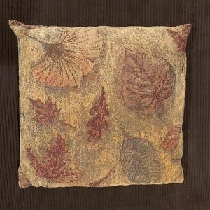 Lovely autumn leaf decor pillow in neutral colors